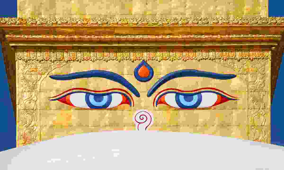 Eyes of the Buddha on the Boudhanath Stupa (Shutterstock)