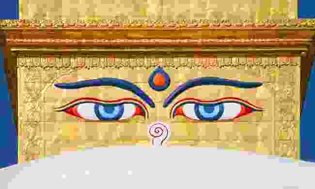 Eyes of the Buddha on the Boudhanath Stupa (Shutterstock)