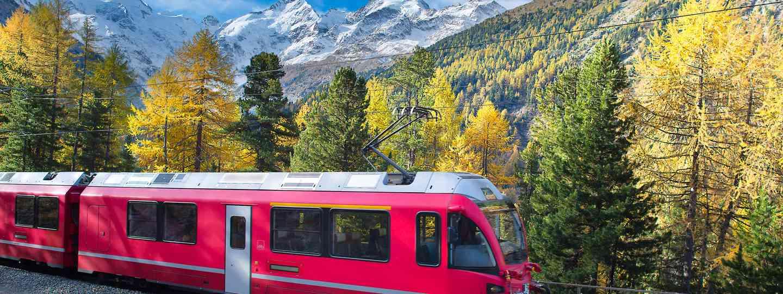 Bernina Express train crossing the Alps (Dreamstime)