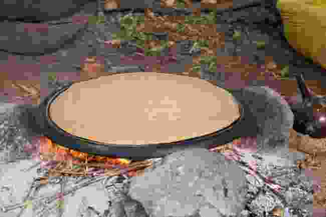Traditionally-cooked injera (Shutterstock)