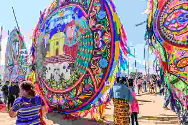 A kite on display in Guatemala during the festival (Shutterstock)