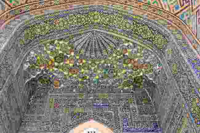 The interior of the stunning Sher Dor Medressa, Samarkand (Shutterstock)