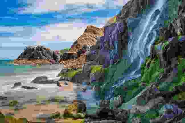 The waterfall at Tresaith (Shutterstock)