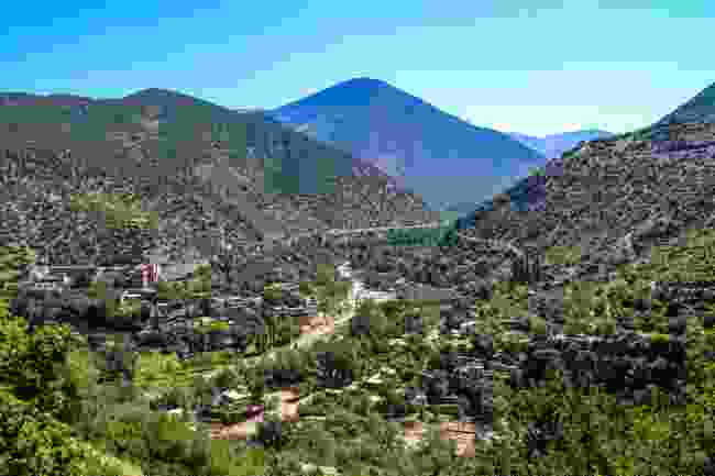 The Atlas Mountains and Berber villages in Toubkal National Park, Morocco (Shutterstock)