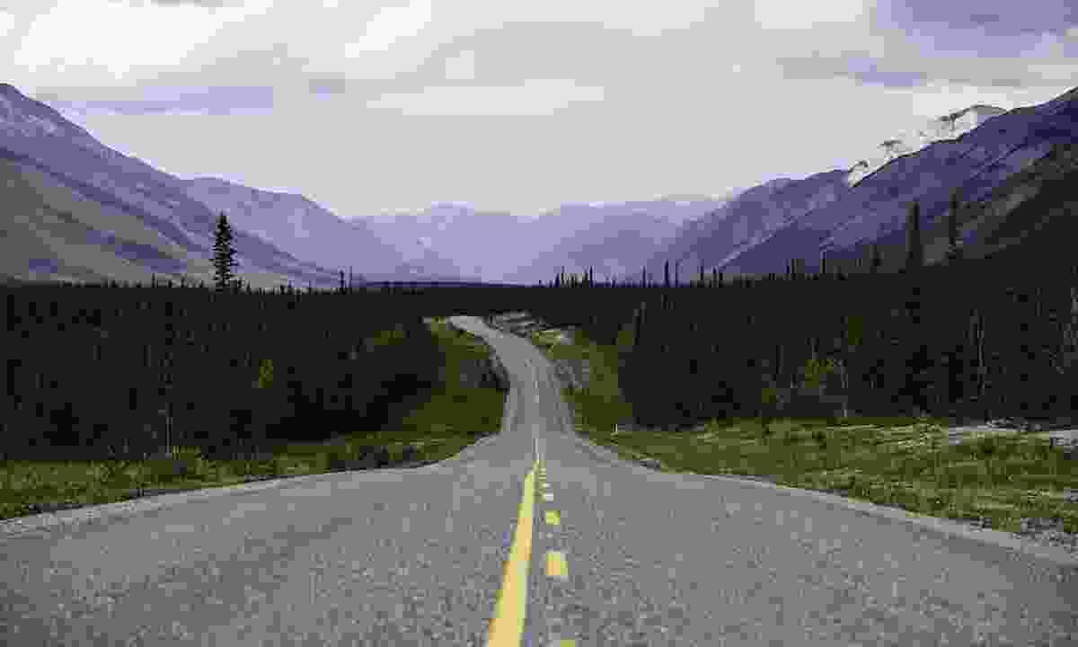 The Alaska Highway running through Muncho Lake Provincial Park (Destination British Columbia/ Andrew Strain)