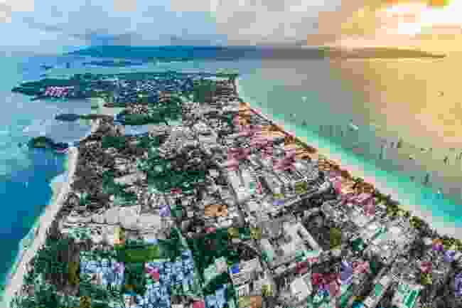 Boracay, Philippines, shot from above (Shutterstock)