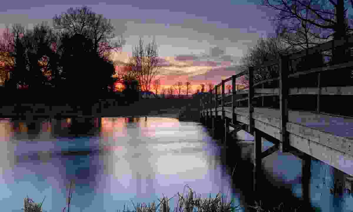Sunset near King's Somborne (Shutterstock)