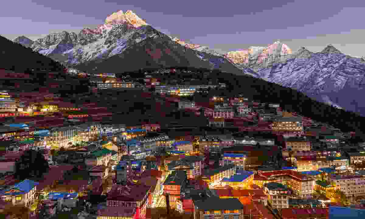 Namche Bazaar at night (Shutterstock)