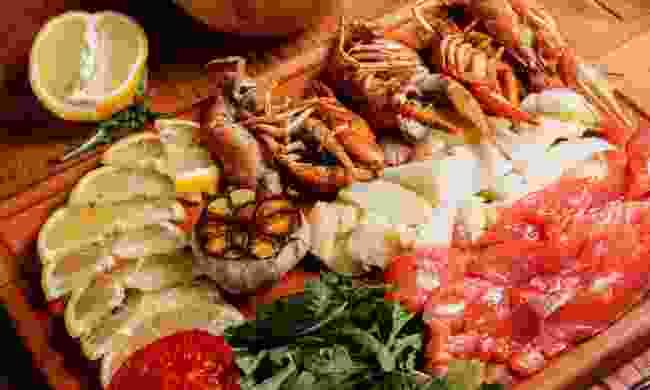 Seafood platter (Dreamstime)