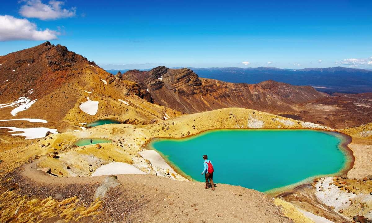 Emerald Lakes, Tongariro National Park, New Zealand (Dreamstime)