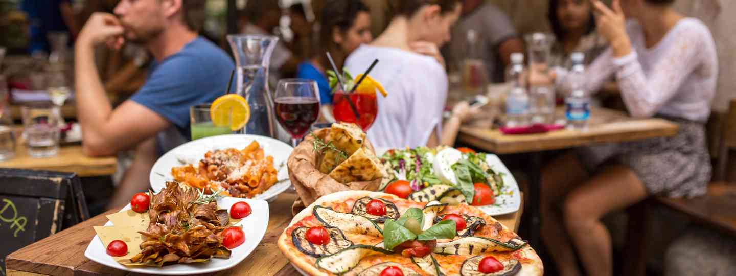 Italian cuisine served at a restaurant (Dreamstime)