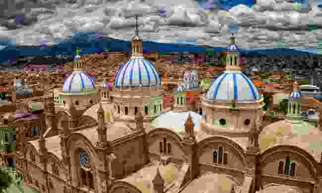 The New Cathedral in Cuenca was large enough to house 90% of the population of Cuenca when it was designed. The church took 90 years to complete construction, finally opening in 1975 (Dreamstime)