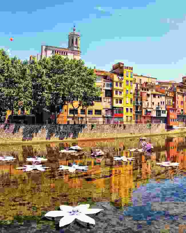 Girona during its annual flower festival (Dreamstime)