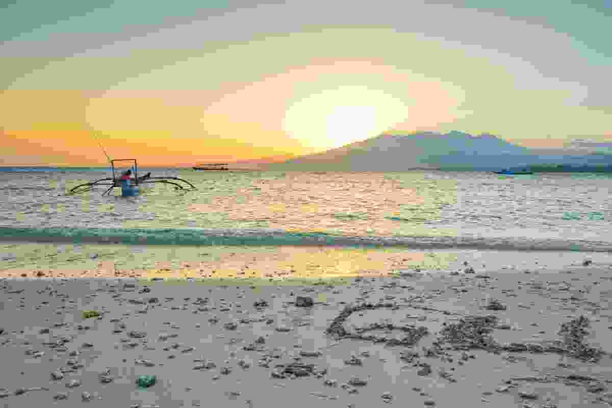 Sunrise on Gili Air, Indonesia (Shutterstock)