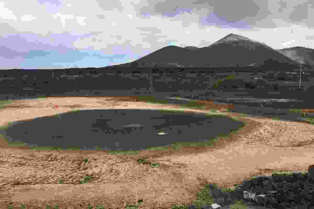 The Ascension Island golf course (Caitlin Hennessy)