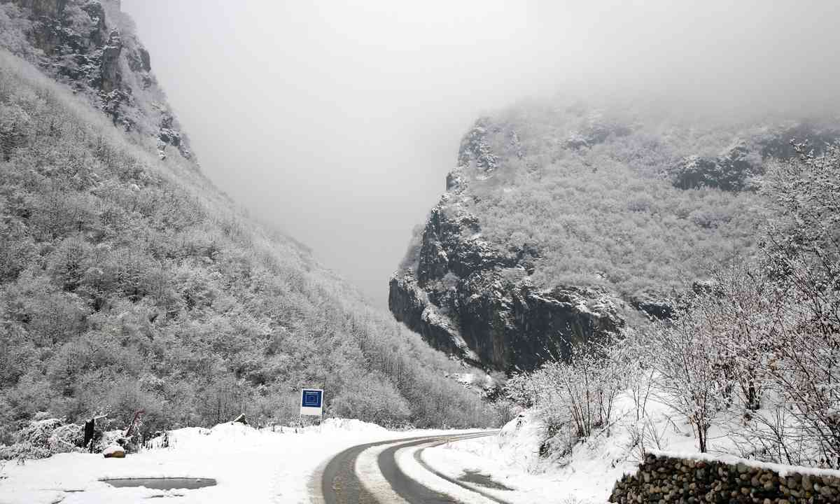 Winter time in the mountains behind Prizren (Dreamstime)