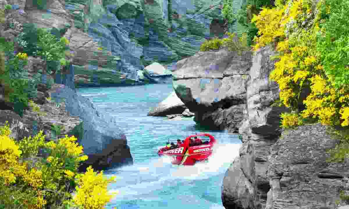 Jet boat near Queenstown (Shutterstock)