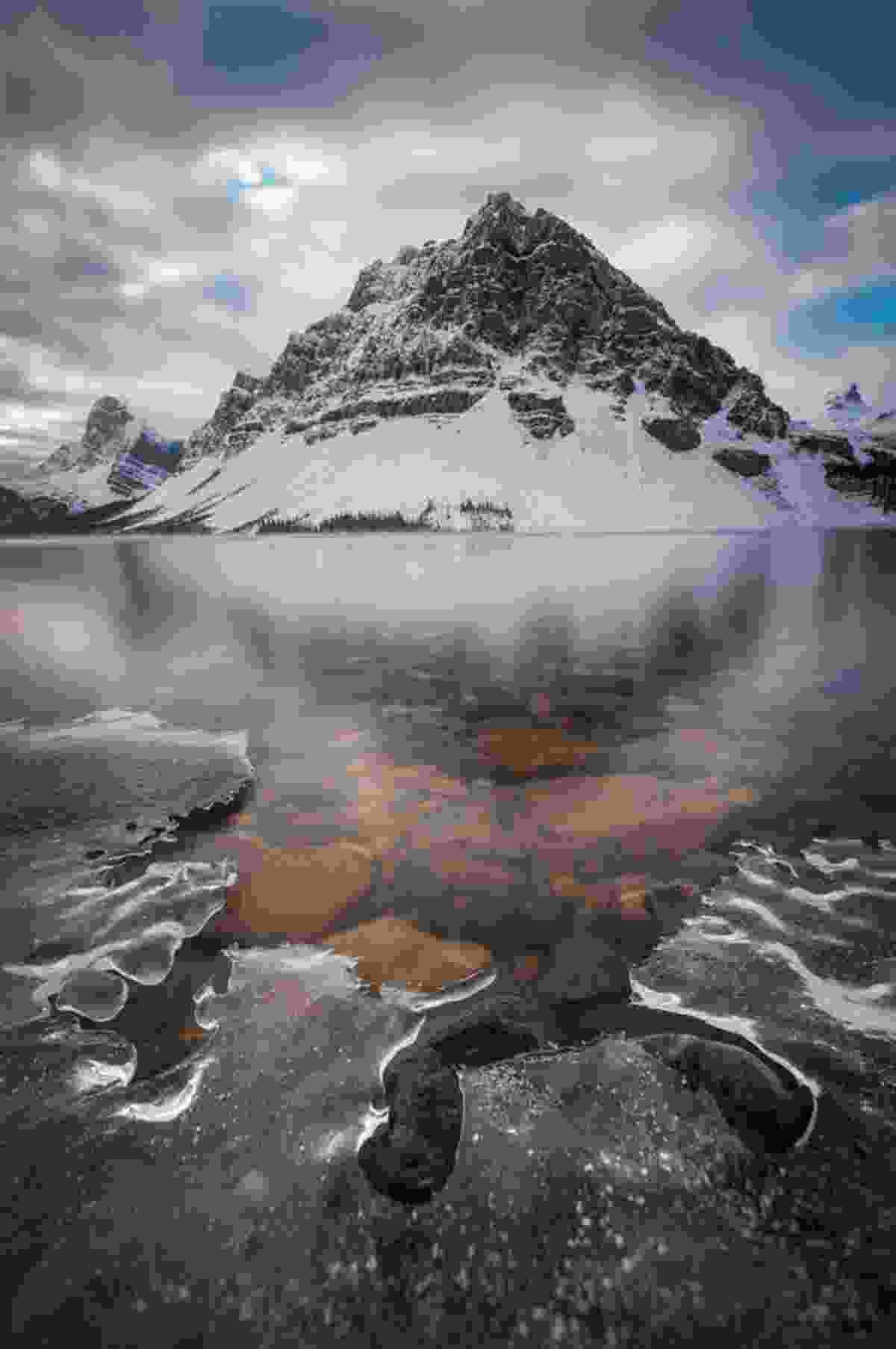 November Freeze, Bow Lake (Paul Zizka)