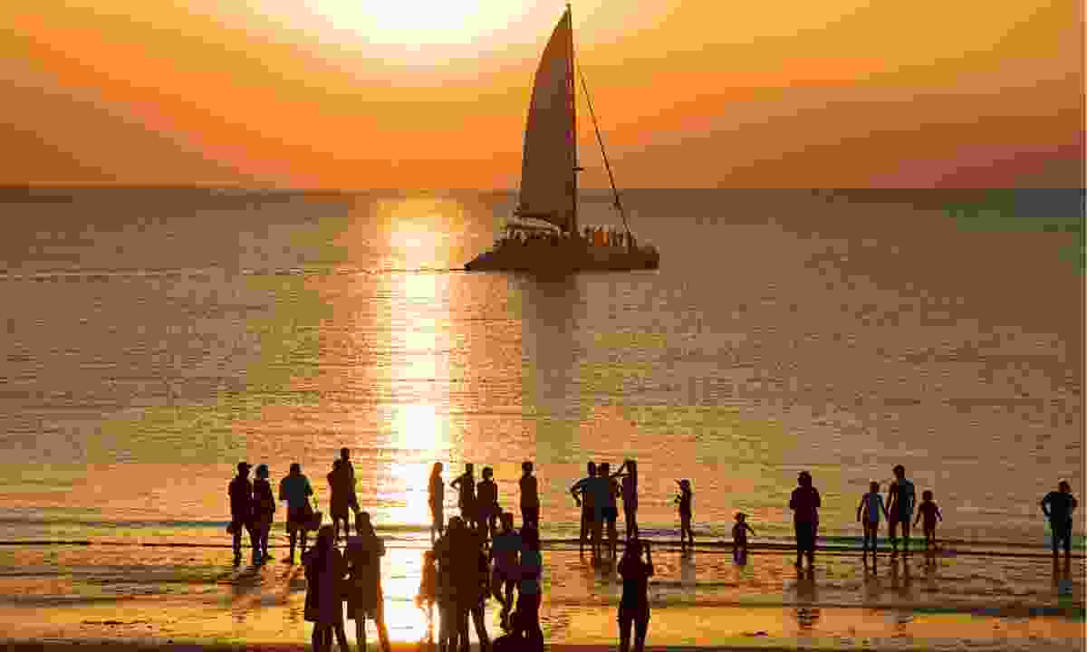 The legendary sunset in Darwin draws the crowds as they emerge from overlanding and from the city itself (Phoebe Smith)