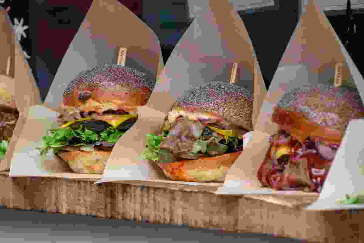 Meat-free burgers from Borough Market, London. Suitable for vegetarians and vegans (Shutterstock)