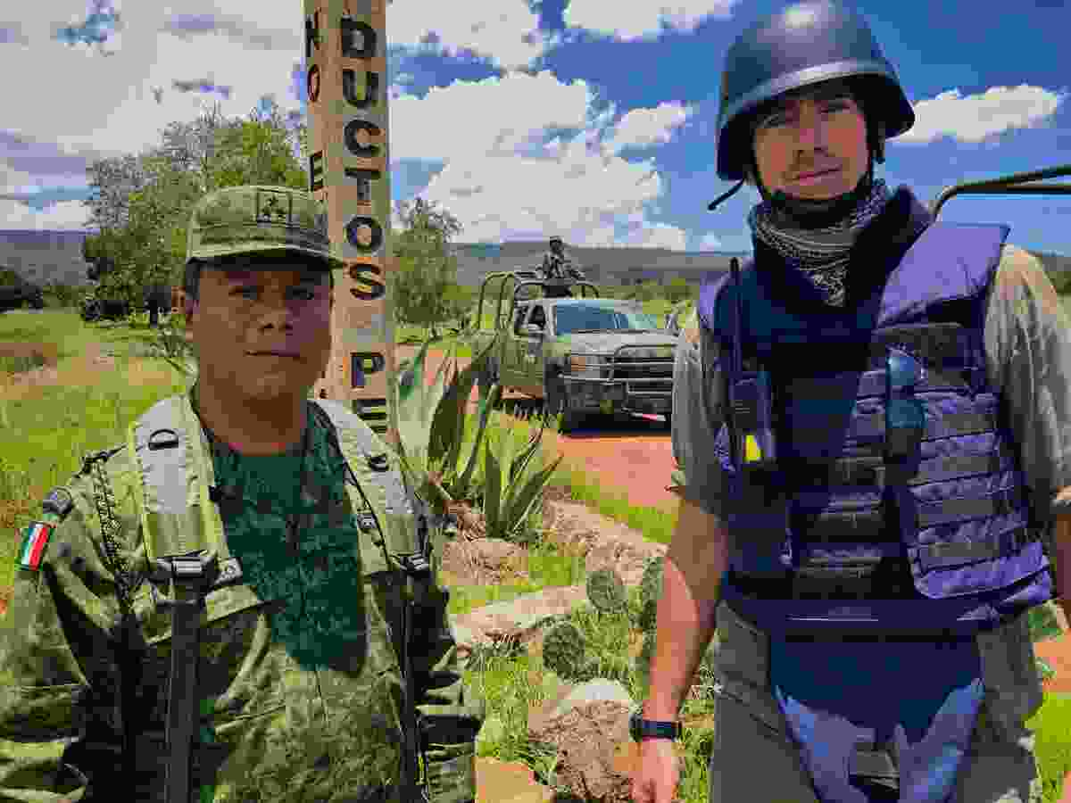 With Mexican army combatting oil theft, Hidalgo, Mexico (BBC/Jonathan Young)