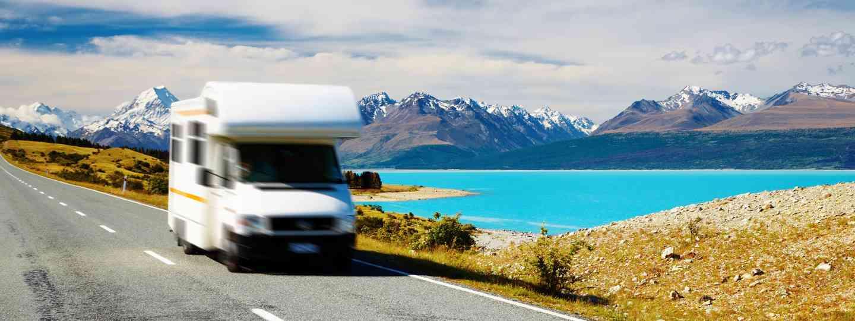 Motorhome near Mount Cook (Shutterstock.com. See main credit below)
