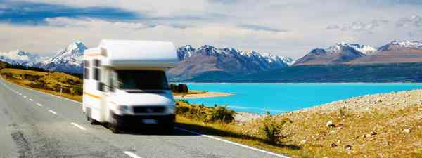 Motorhome near Mount Cook (Shutterstock.com. See main credit below)
