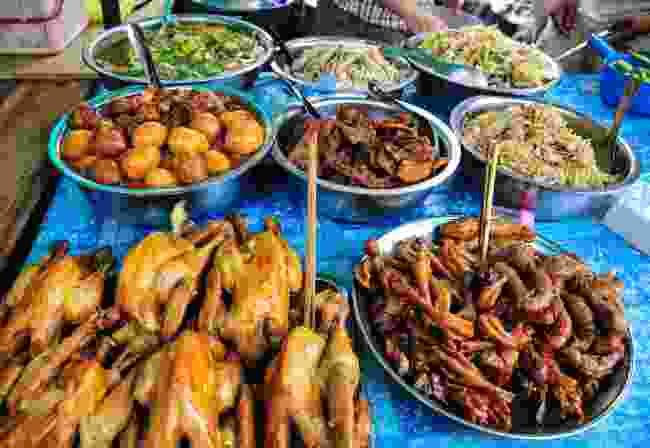 Local food at a rural market in Kampot, Cambodia (Dreamstime)