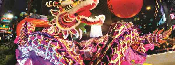 A dragon dance at Chinese New Year (Hong Kong Tourist Board)