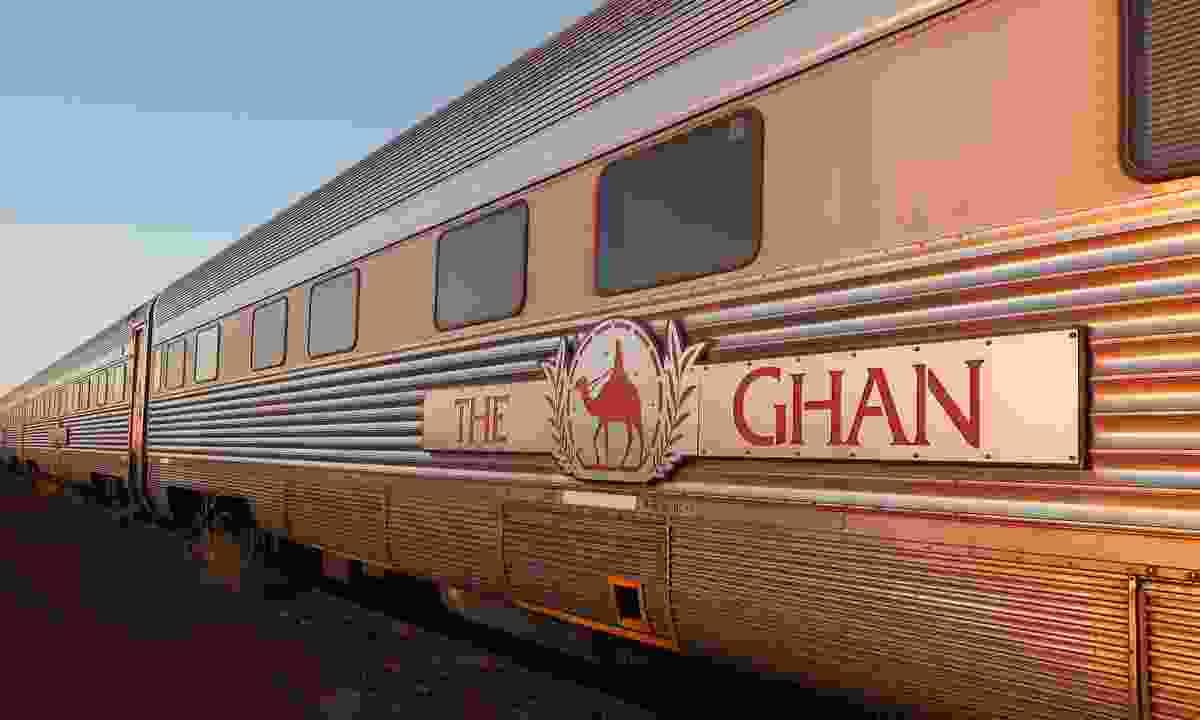 Ghan railway at a stop in Marla South Australia (Dreamstime)