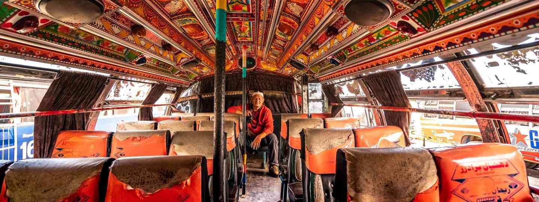 Taking the bus in Pakistan (Shutterstock)