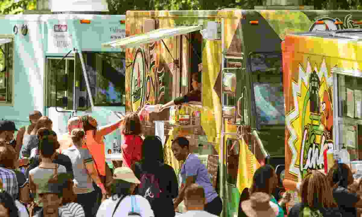 Atlanta's bustling Food Truck Park (Shutterstock)