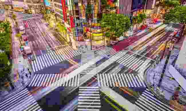 Street crossing in the Ginza District (Shutterstock)