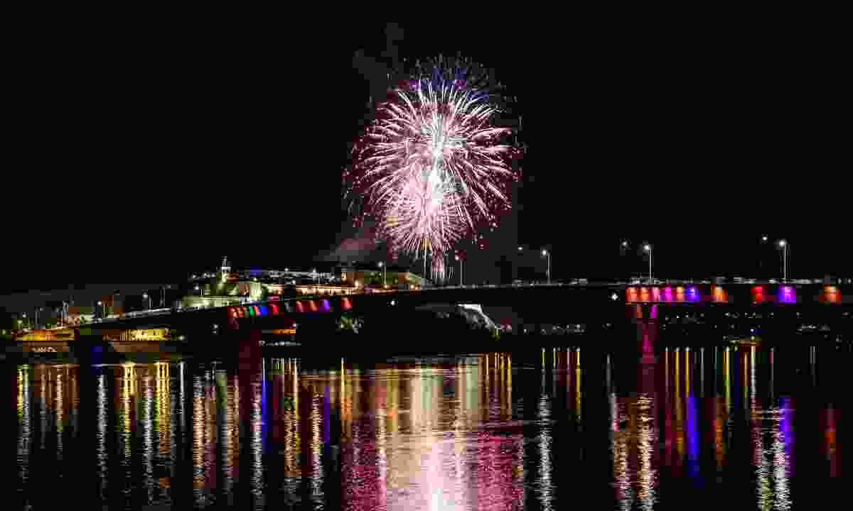 Fireworks at the opening opf Novi Sad's EXIT festival (Dreamstime)