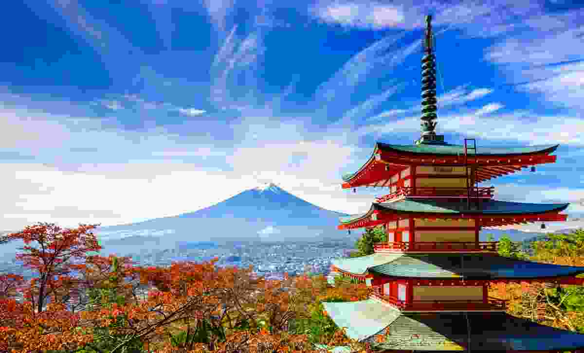 Mt. Fuji with Chureito Pagoda in autumn, Fujiyoshida, Japan (Dreamstime)