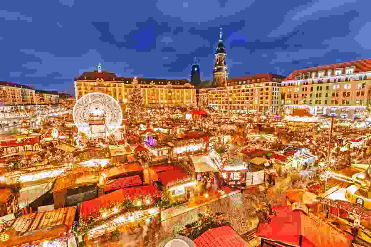 Dresden's Christmas Market at night (Shutterstock)