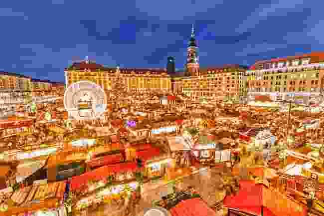 Dresden's Christmas Market at night (Shutterstock)