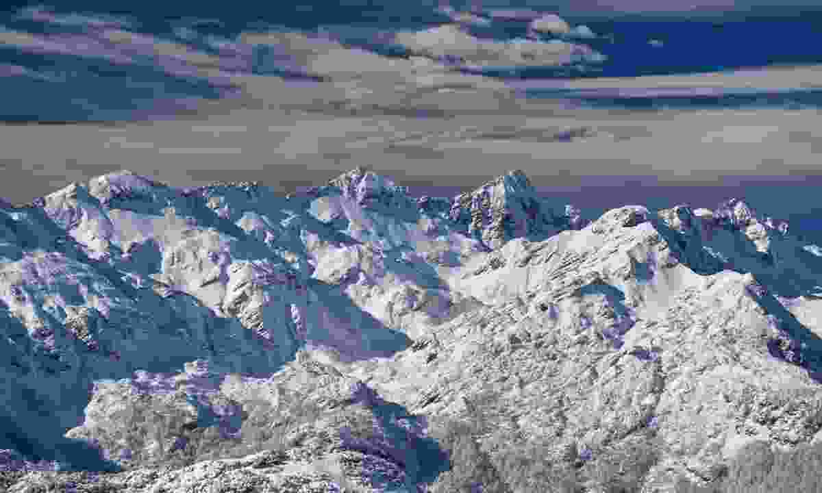 Snow-covered mountains (Slovenian Tourist Board)