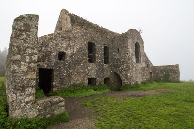 The ruin of former hunting lodge Hell Fire Club, atop Montpelier Hill in Dublin, Ireland (Shutterstock)