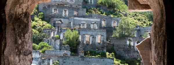 The Turkish ghost town of Kayaköy, previously known as Livissi (Shutterstock)