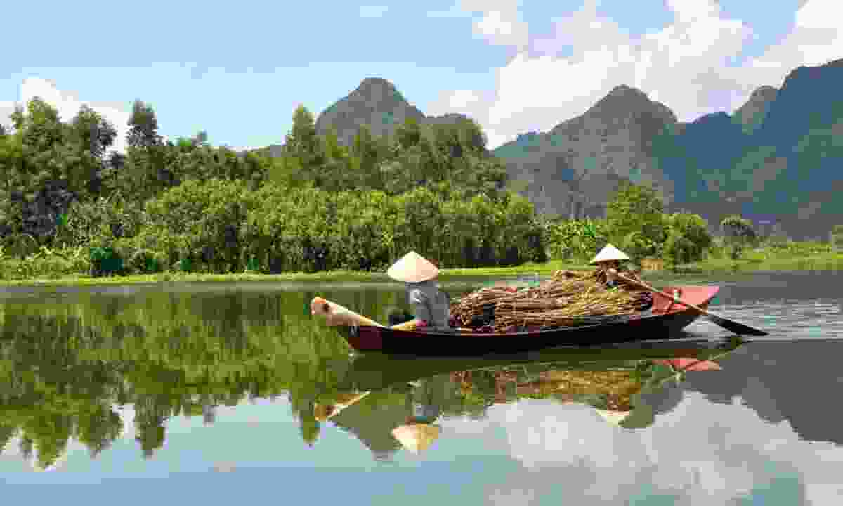 Boat on the Mekong River (Dreamstime)