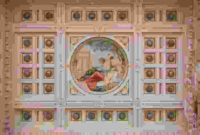 Painting inside the Terme Tettuccio Spa (Shutterstock)