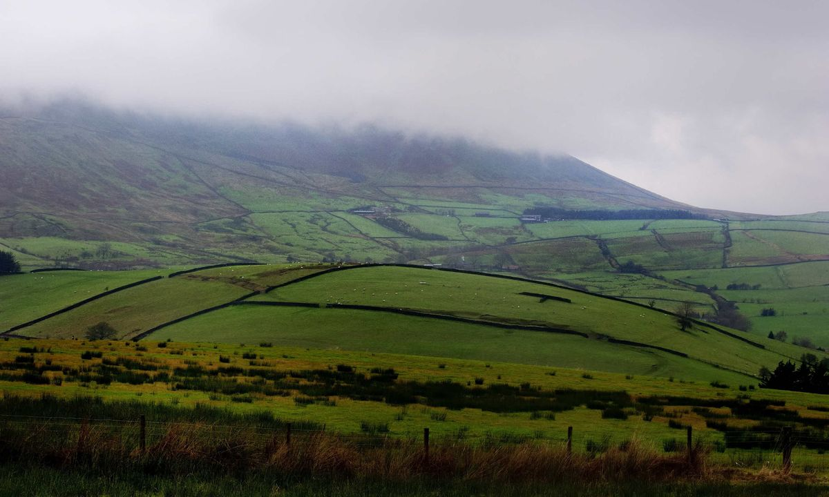 Mist atop Pendle Hill (Dreamstime)