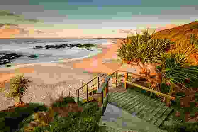 Beach stop on the Yuraygir Coastal Walk (AWL)