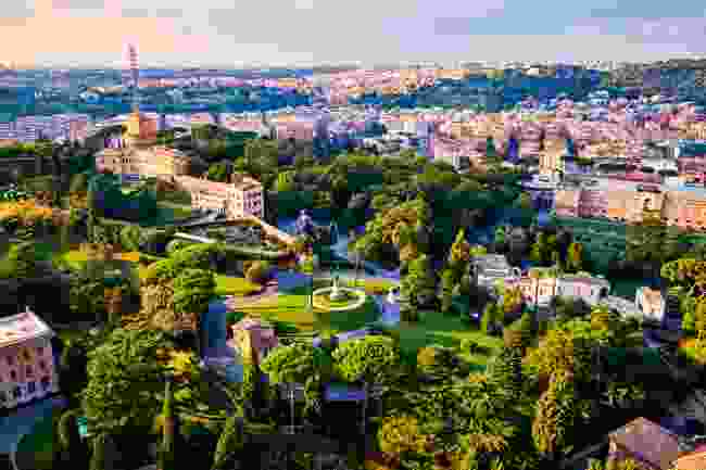 A view of the Pope's garden from above (Shutterstock)
