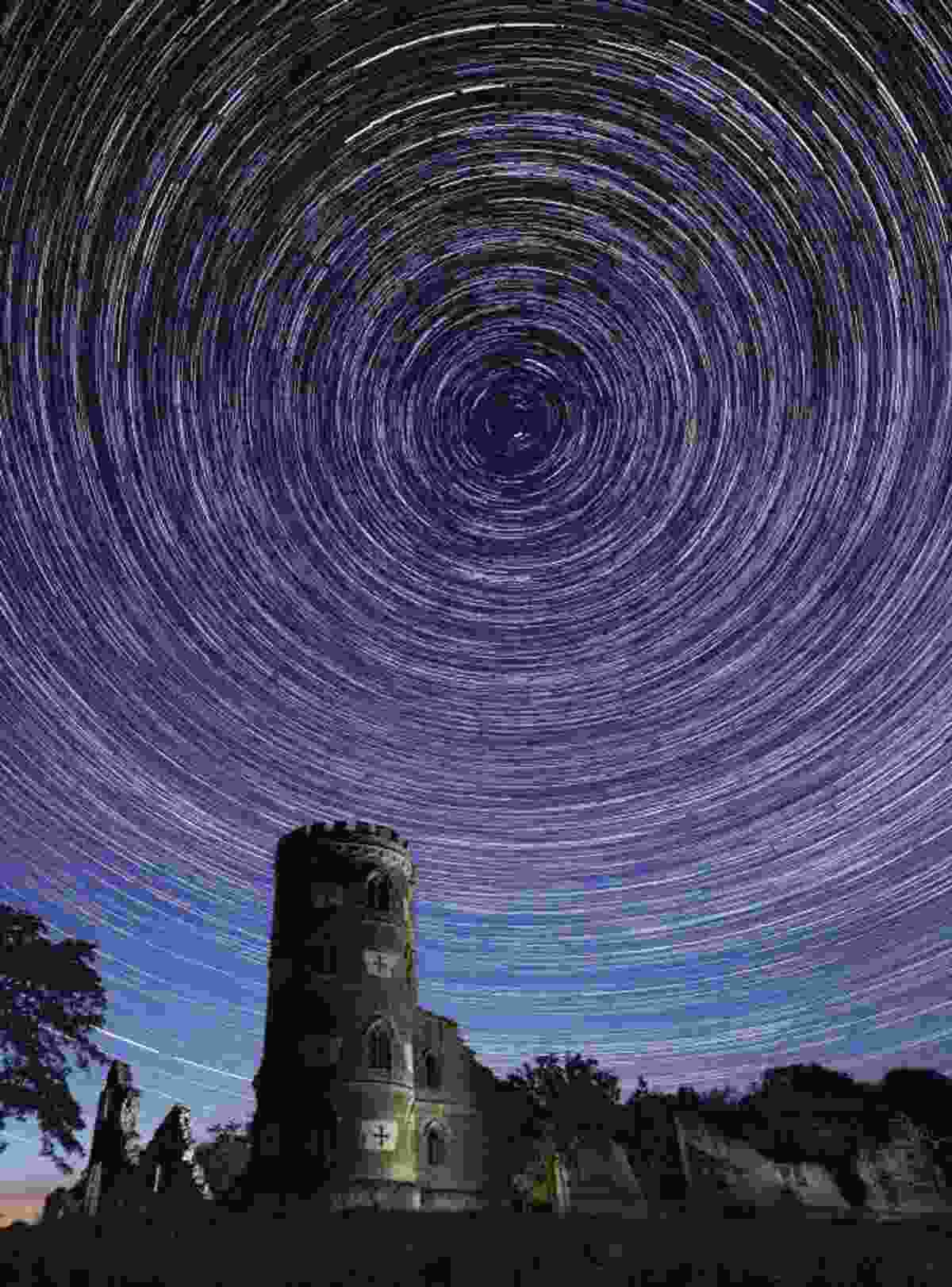 More then 200 images were stacked to create this star trail (Antony Zacharias)