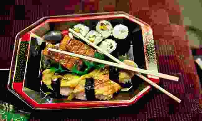 Sushi in an ekiben Box (Mark Stratton)