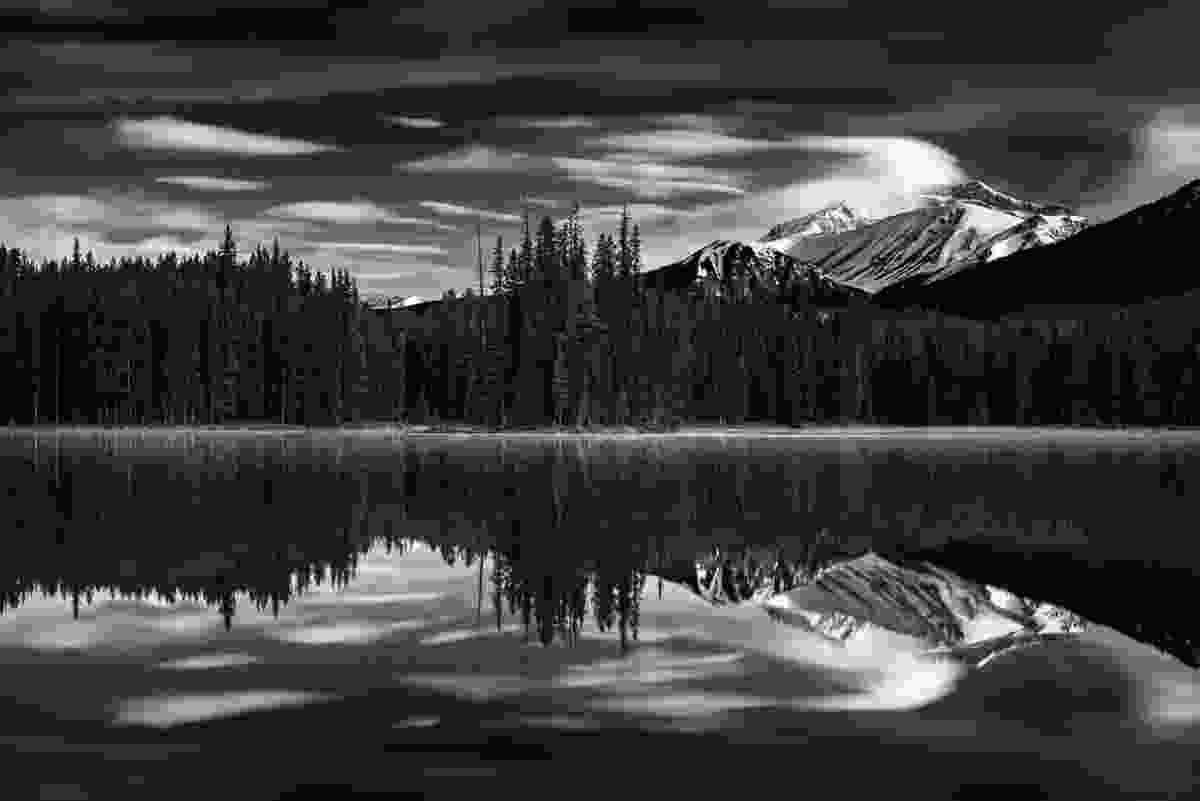 Mount Hector above Island Lake (Paul Zizka)