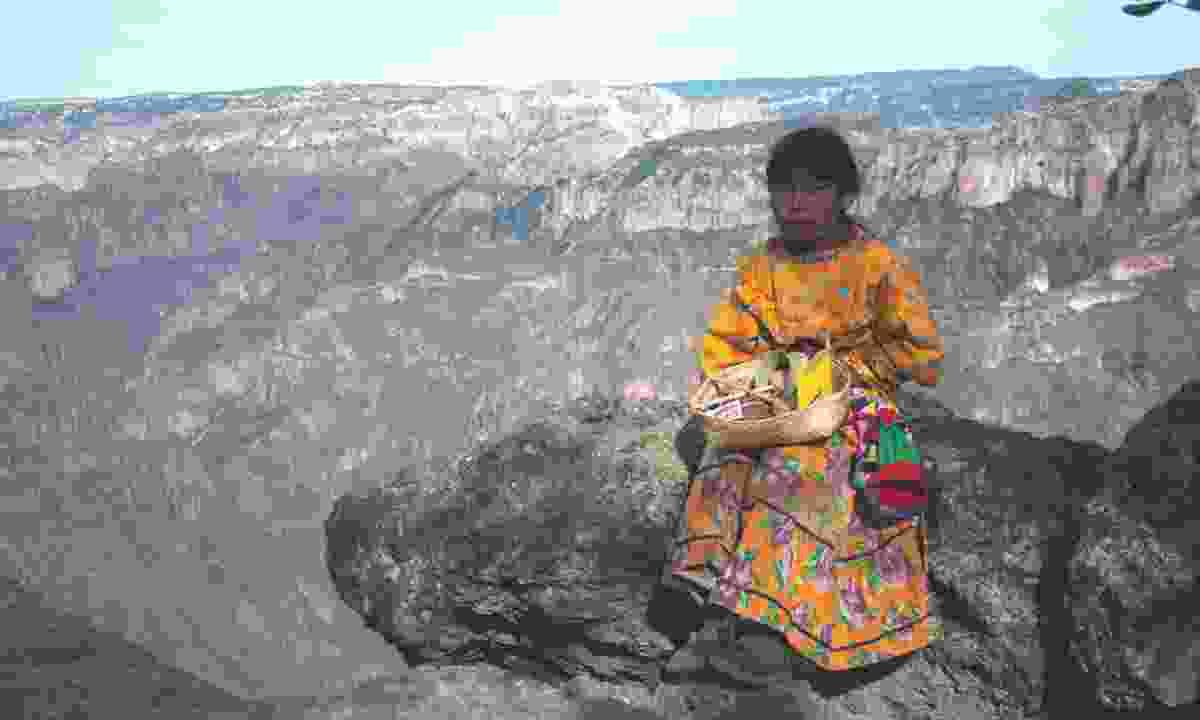 Tarahumara girl in the Copper Canyon (Dreamstime)