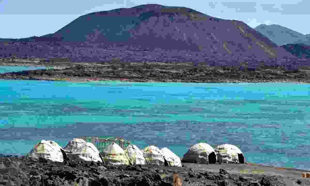 Afar tents on Ghoubet beach (Shutterstock)